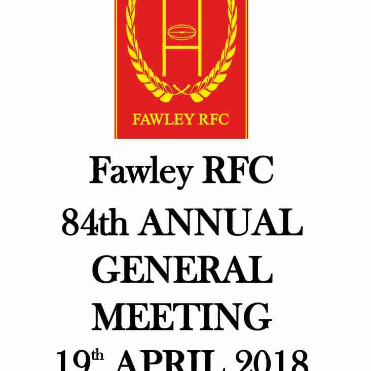 Fawley RFC  AGM