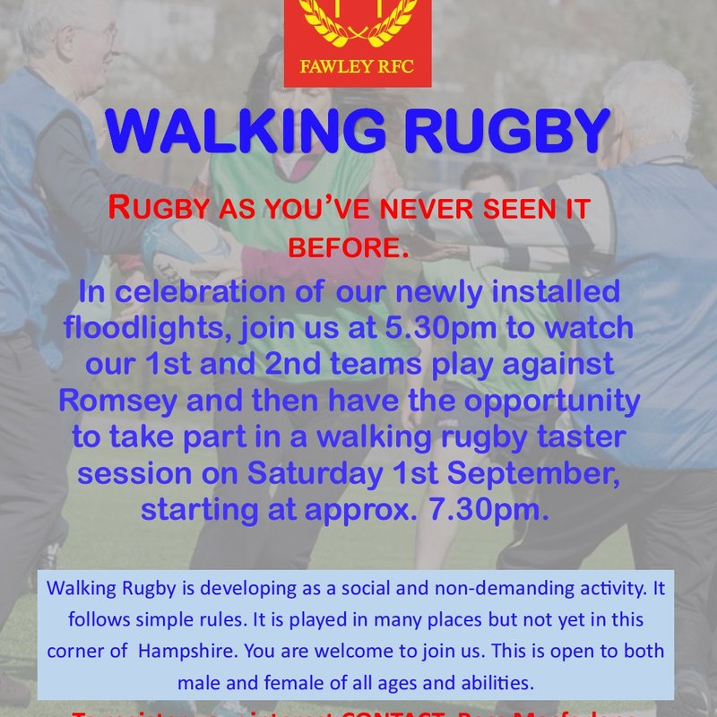 Walking Rugby for all