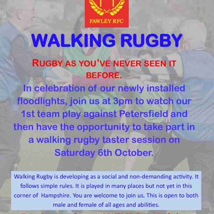 Walking Rugby Taster session
