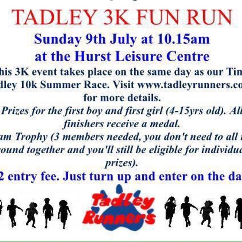 Tadley 10K and 3K fun run