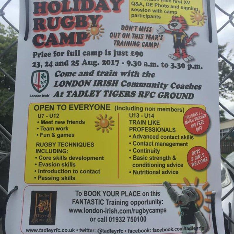 Tadley Tigers RFC Summer Rugby Camp