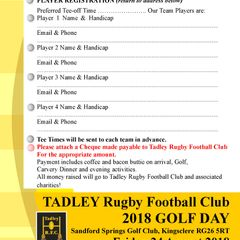 Charity Golf Day - August 2018