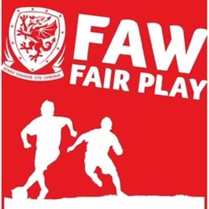FAW Fair Play Table - Up to the end of February 2016