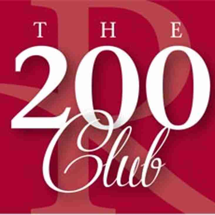*** 200 Club - May Draw - for payments received in April ***