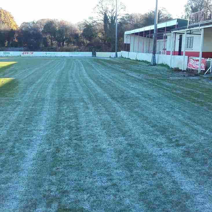 Frost causes postponment of game