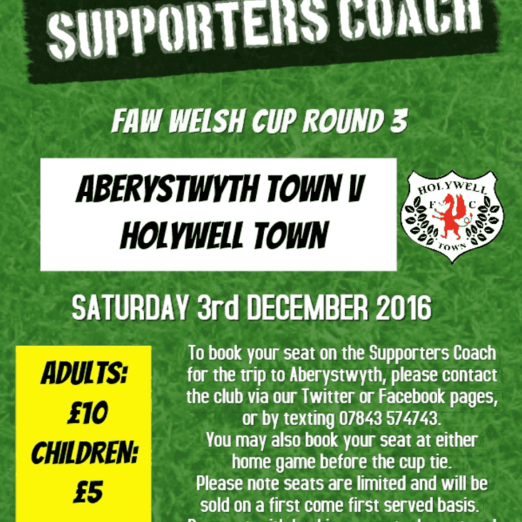 Supporters Coach to Aberystwyth