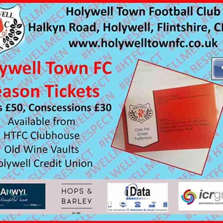 Holywell Town FC Season Ticket 2017/18