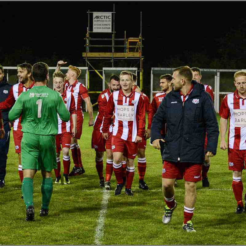 Holywell Town 3-3 Prestatyn Town (HTFC win 5-4 on Pens) Nathaniel MG Cup Rd1. Season 2017/18.  Photo's Chris Noble (c)
