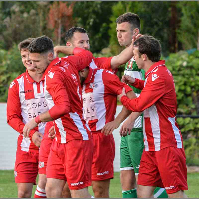 Holywell Town 4-3 Brickfield Rangers NEWFA Challenge Cup Rd.2.  Chris Noble (c)