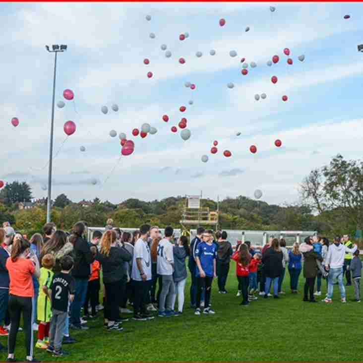 Balloon's released in memory of Liam Simpson