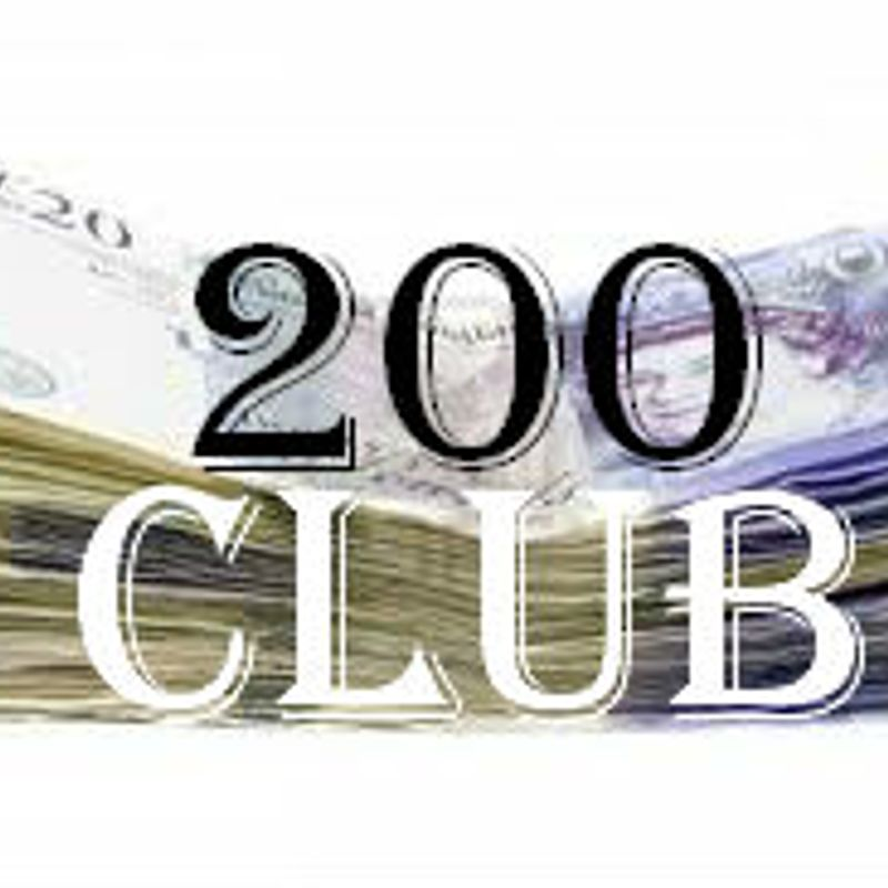 *** 200 Club - July Draw - for payments received in June ***