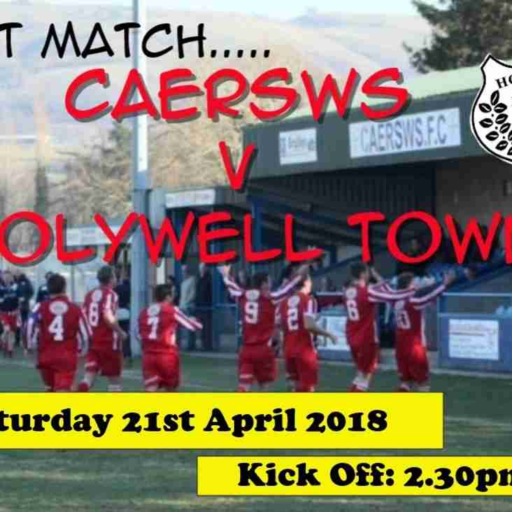 Caersws v Holywell Town - Match Preview