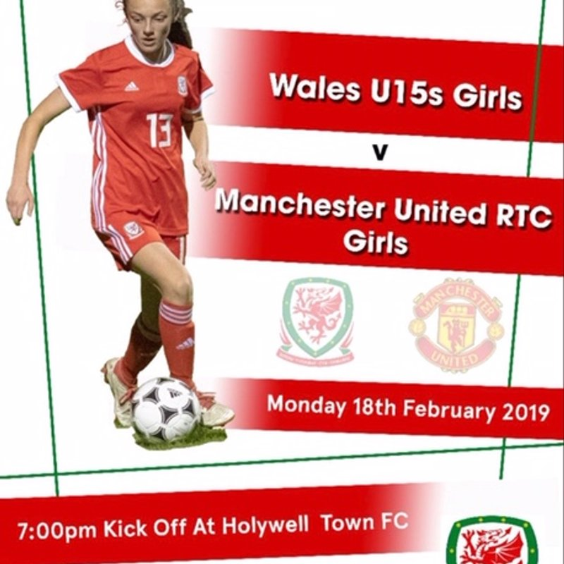 Halkyn Road to host Wales U15's friendly against Manchester United Girls