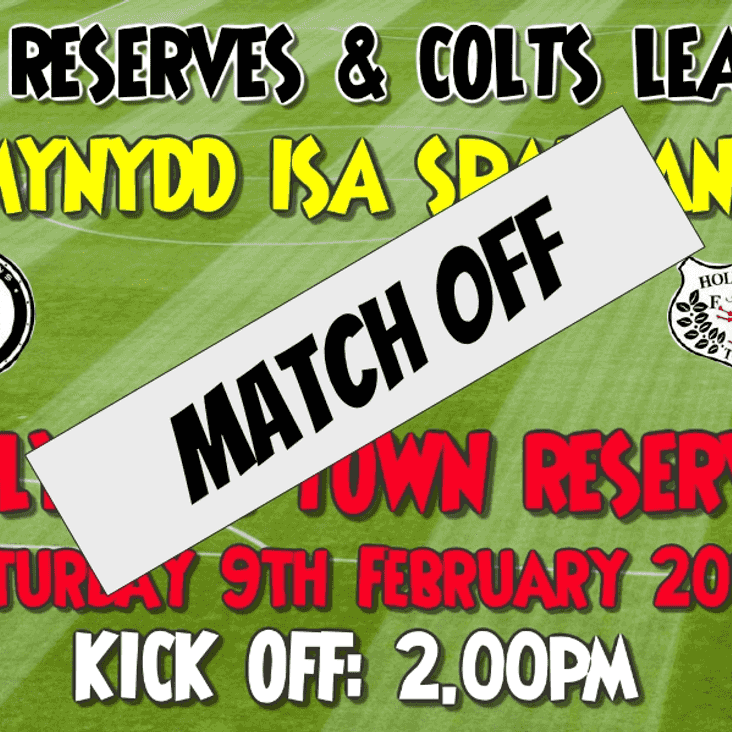 Reserves match falls foul of the weather