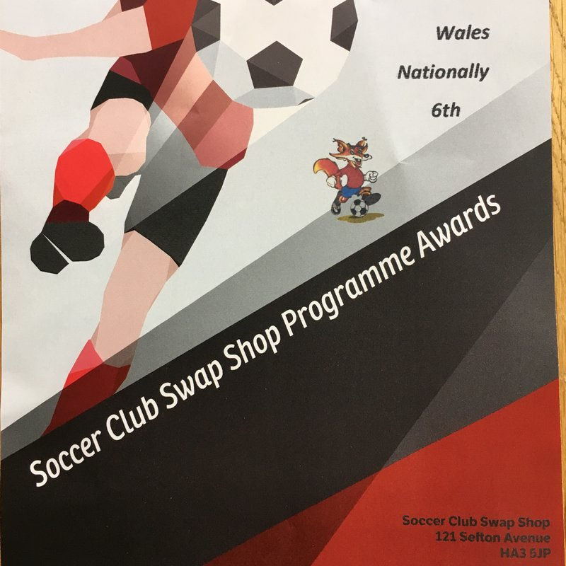 Soccer Club Swap Shop Programme Awards 2018/19