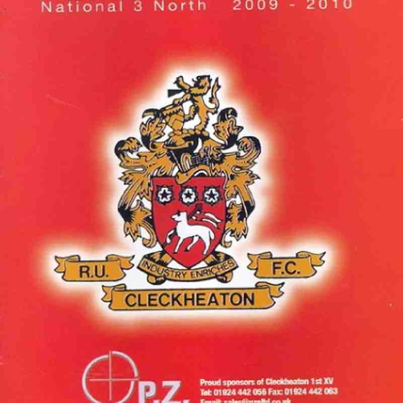 1st XV v Cleckheaton (A) 121209
