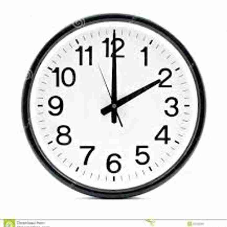 KICK OFF TIME V DOUGLAS (IOM) 28/10/17 - 2.0PM