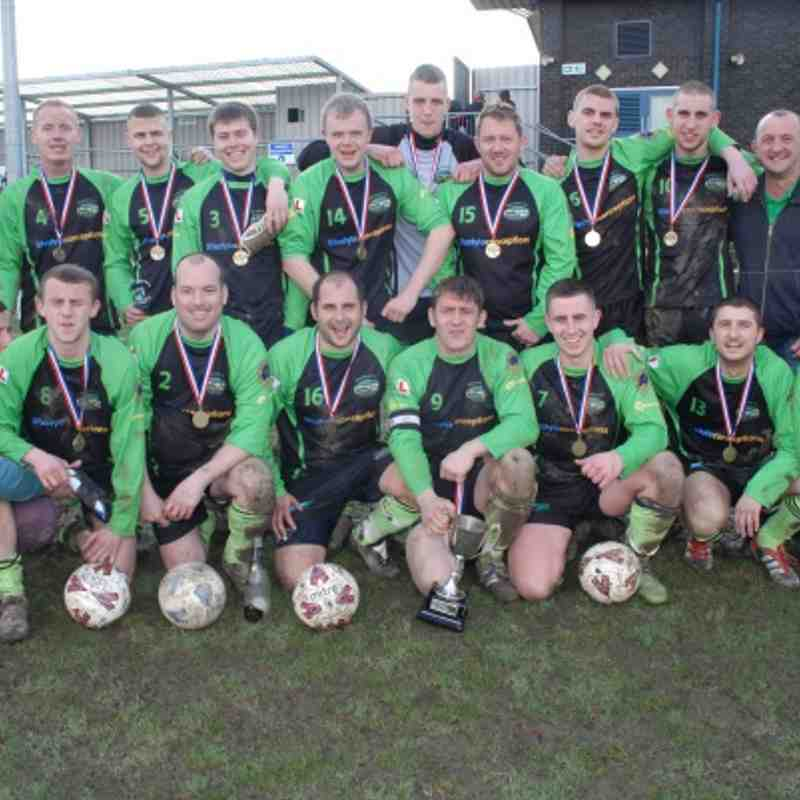 The Woodman Inn FC. Division Four League Cup winners 2011-2012.
