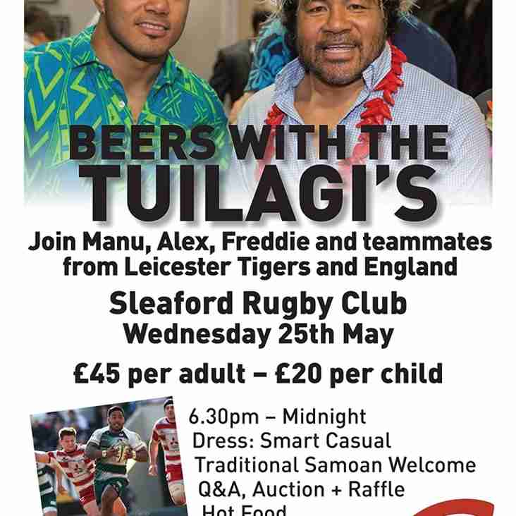 An evening with the Tuilagi brothers and friends