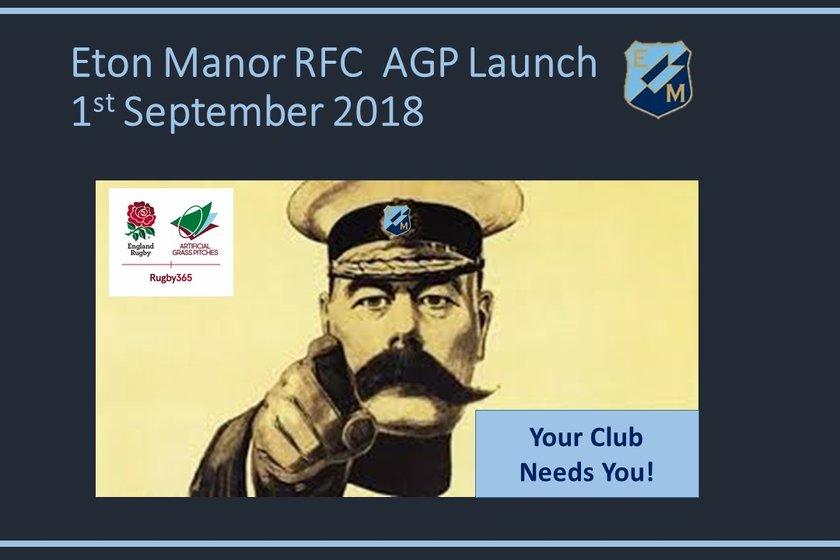 AGP Launch Festival Saturday 1st September  Eton Manor v Southend RFC