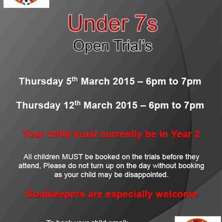 Bedfont Eagles U7s Open Trial Sessions