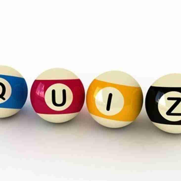 Quiz Night Friday 4th  December