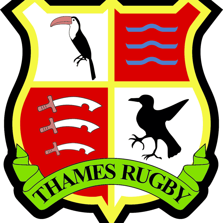 Thames Rugby at home Saturday 30th January at 2.30pm