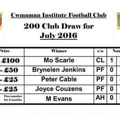 200 Club Results