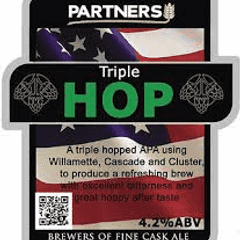 Triple Hop on in the club this week supplied by Partners Brewery....