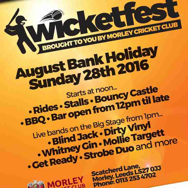 Wicketfest - Sunday 28th August