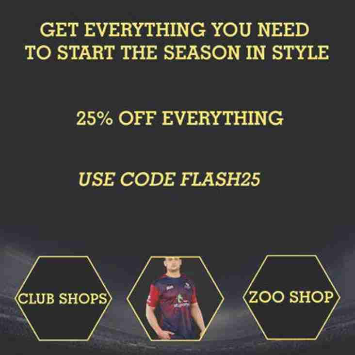 25% off in the Club Shop