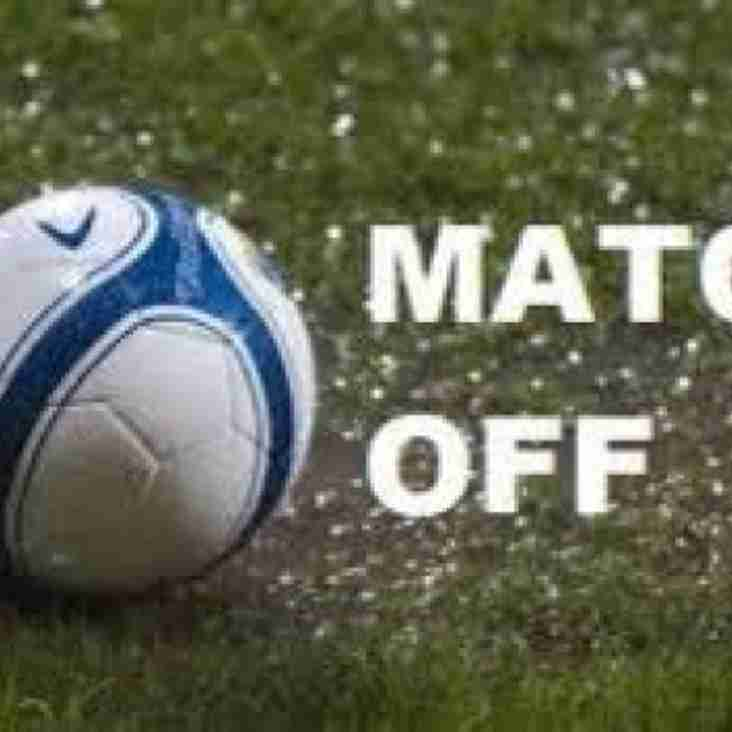 Tonights match at Aveley is OFF