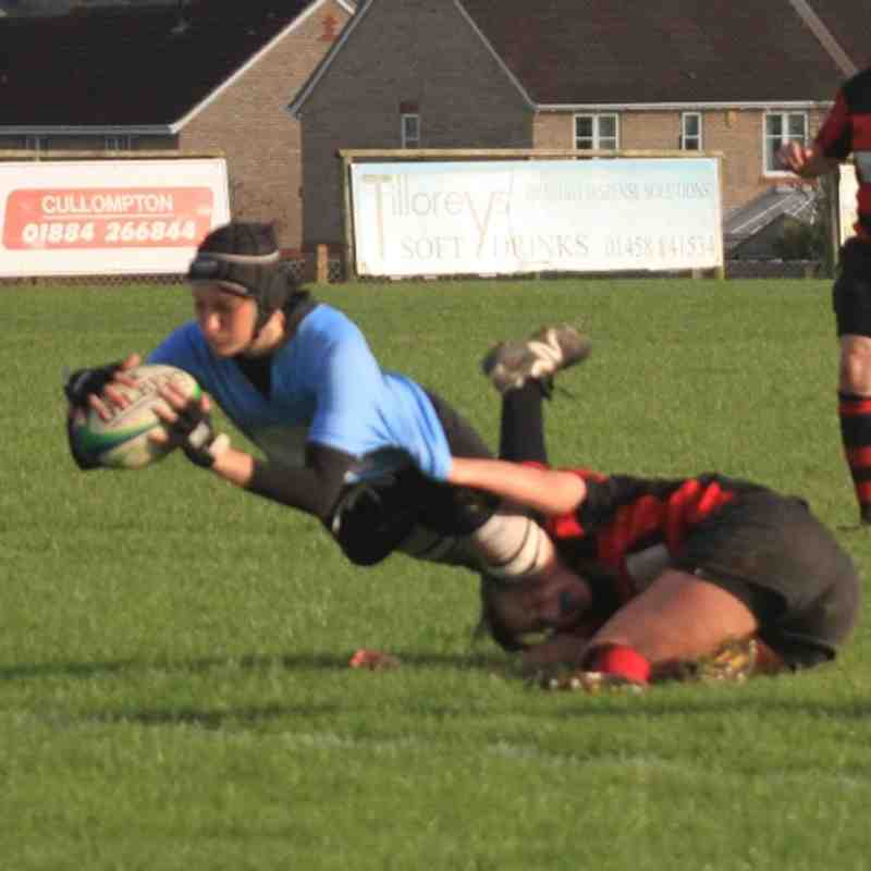 Cullompton RFC Ladies v Old Redcliffians RFC Ladies  30th October 2011