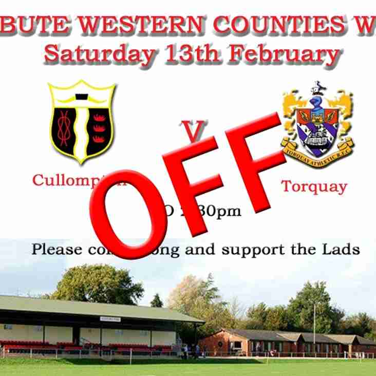 TORQUAY GAME OFF - VP's LUNCH is ON
