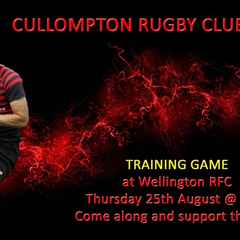 Training Game - this Thursday