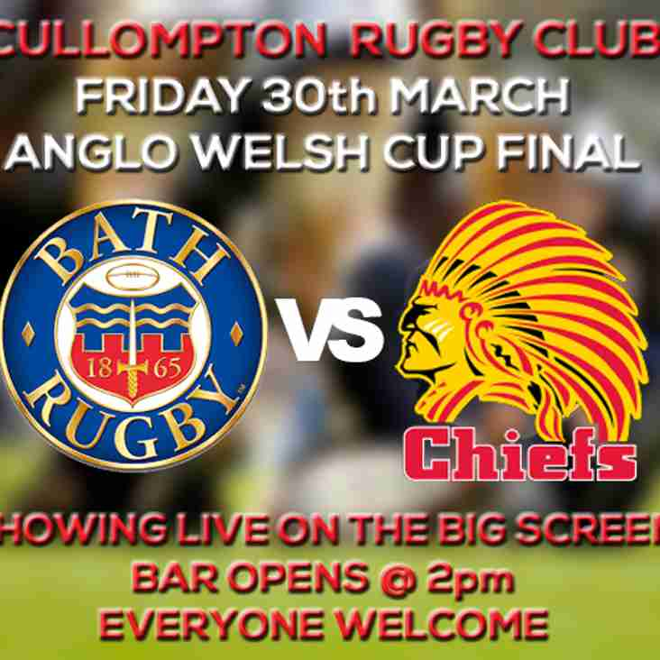 BATH V CHIEFS ON THE BIG SCREEN