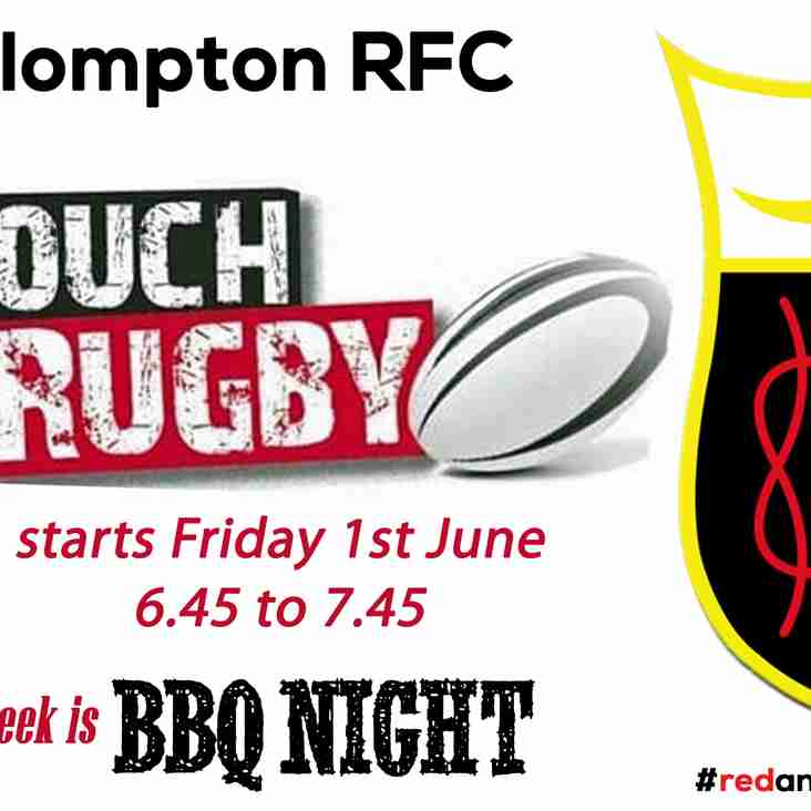 FRIDAY TOUCH RUGBY IS BACK