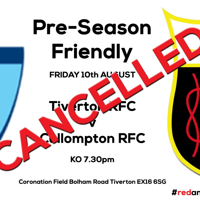 Pre-Season Game this Friday OFF