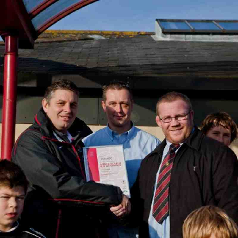 Presentation of the RFC Seal of Approval to Cleve RFC