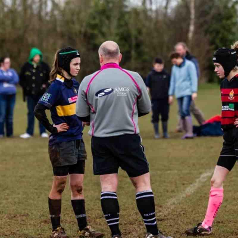 U 15 Girls Rugby  Cleve Girls v Worcester Girls  17 Mar 2013