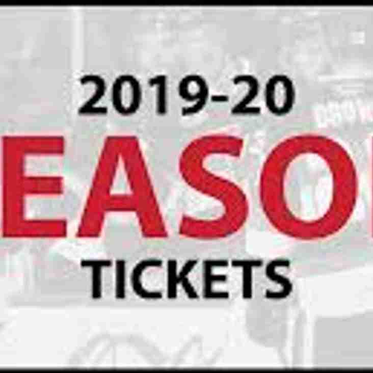2019/20 Season Tickets Now on Sale