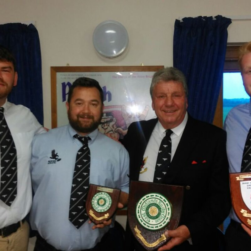 Captains receive league winners shields