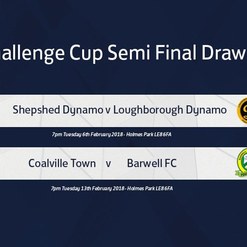 LEICESTERSHIRE CHALLENGE CUP DRAW