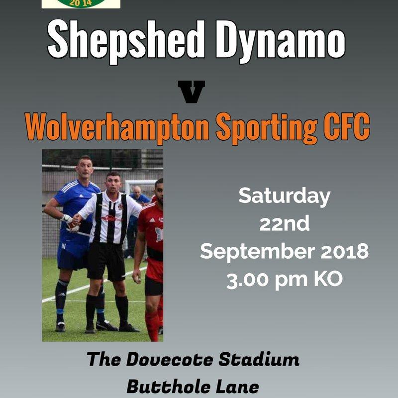 NEXT UP: Dynamo V Wolverhampton Sporting CFC