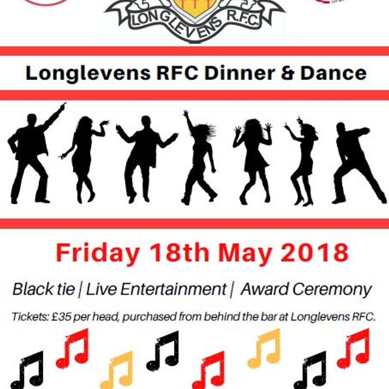 Friday 18th May 2018  - Dinner & Dance 2018 - Black tie, great food, celebrate the season!