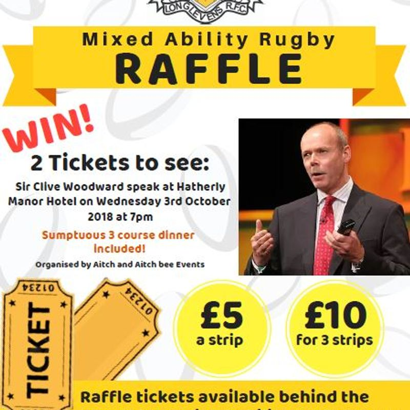 Win 2 Tickets for Sir Clive Woodward at Hatherley Manor