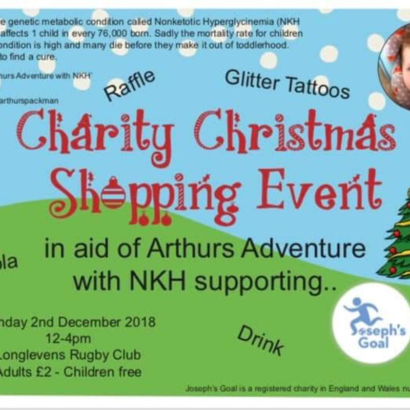 Xmas Stalls at LRFC supporting Arthurs Adventure with NKH and Joseph's Goal Charity Shopping 2nd Dec