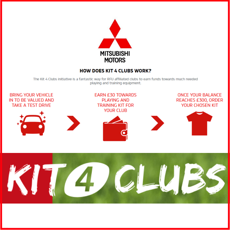 Book a Mitsubishi Test Drive to earn Stash for LRFC #Kitforclubs