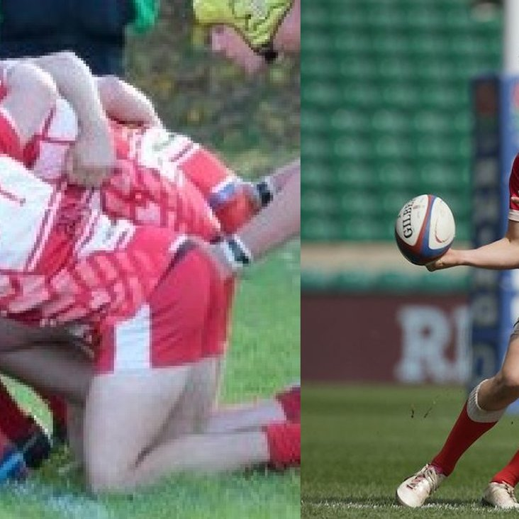 Former Longlevens players in Championship Game: Tom Griffiths (London Scottish) v Robbie Smith (Hartpury)<
