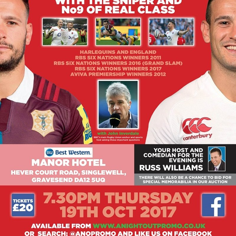 An Evening with Danny Care - Thursday 19th October